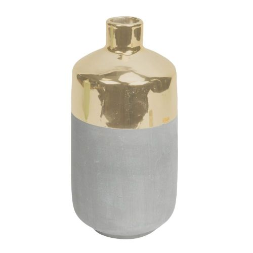 Concrete Grey and Gold Ceramic  Vase Home Ornament
